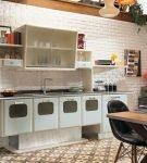 Шкафы в стиле ретро на кухне