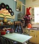 Эффектный декор в стиле ретро на кухне