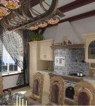 Стильная кухня с элементами в морском стиле