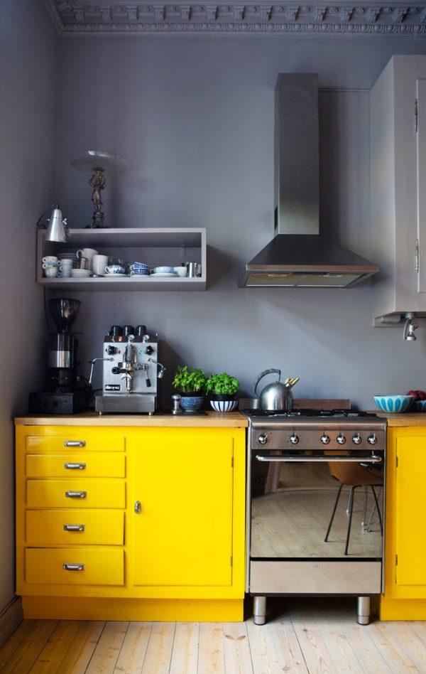 Чёрно-жёлтая кухня