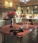 Кухонная мебель оливкового цвета