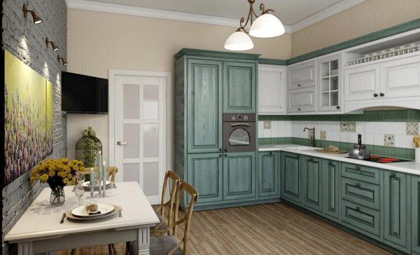 Стильный гарнитур на кухне прованс