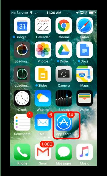 Начальный экран iPhone