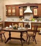 Коричневая мебель для интерьера в стиле прованс