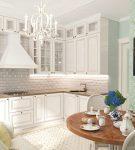 Светлая кухня прованс в белом цвете