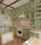 Эффектные балки на кухне с прованским дизайном