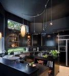 Чёрный матовый потолок