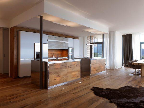 Потолки в кухне хай-тек