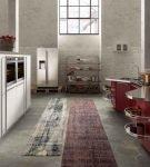 Изящно выгнутый кухонный гарнитур