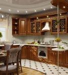 Классический стиль на маленькой кухне