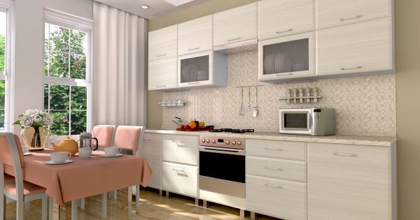Матовый белый кухонный гарнитур