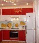 Кухня с апельсиновой тематикой