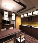Необычная мебель в японской кухне