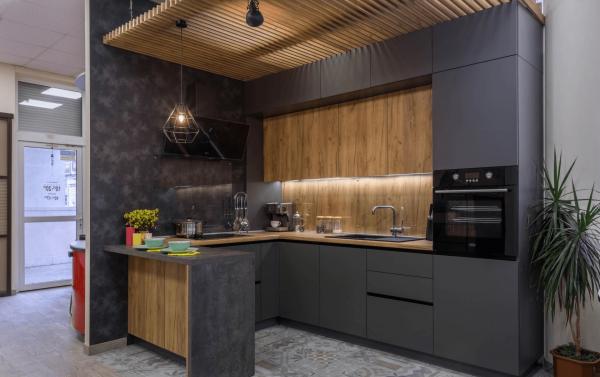 Кухонный гарнитур без ручек
