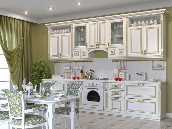 Потолок на кухне с патиной