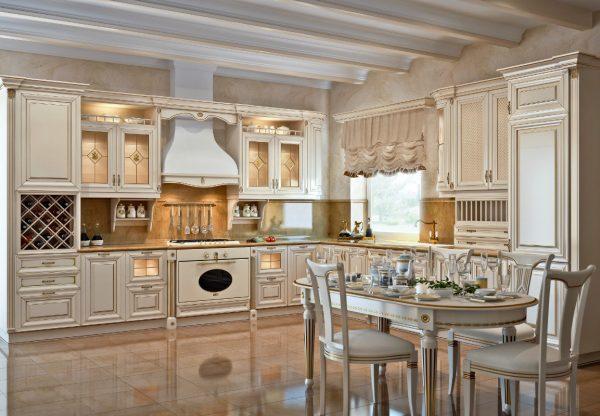 Мебель кухни с патиной