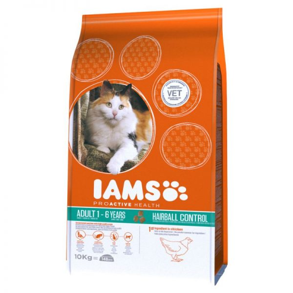 IAMS Adult Cat Hairball Control rich in Chicken