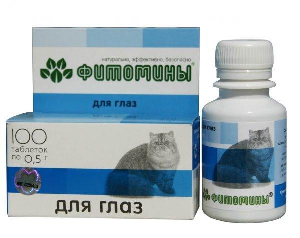 Фитомины для глаз у кошек