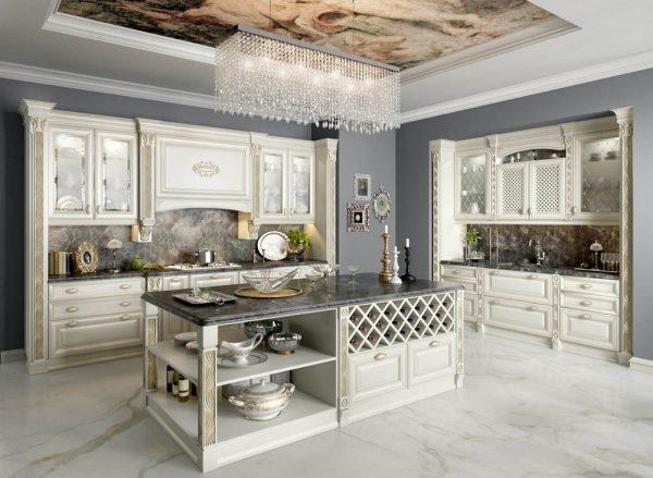 Дворцовая стилизация итальянского интерьера