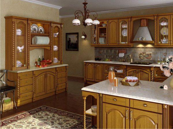 Люстра в кухонном интерьере