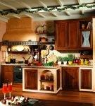 Кухня, обустроенная из эко-материалов