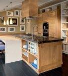 Современная кухонная обстановка