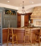 Кухонная зона в общем интерьере