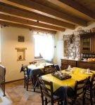 Кухня по-итальянски в стиле кафе
