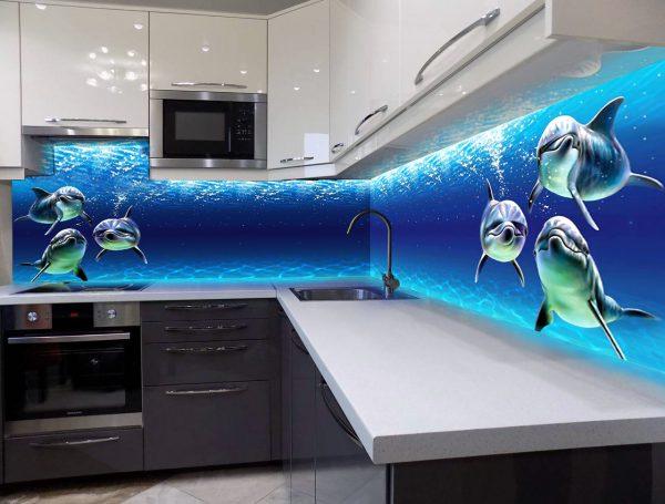 фотообои в рабочую зону кухни