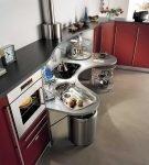 Оригинальная и яркая мебель для кухни хай-тек