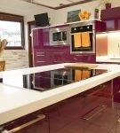 Мебель насыщенного цвета в стиле хай-тек