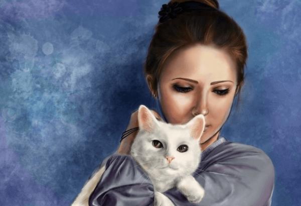 Девушка с кошкой