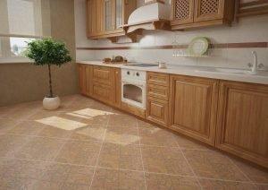 Плитка для пола на кухне