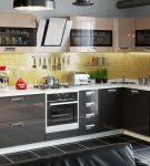 Контрастные шкафы кухонного гарнитура