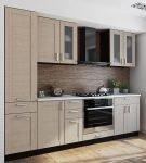 Мебель бледного цвета на кухне