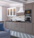 Стильный гарнитур в кухне-гостиной