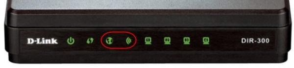 Индикаторы Wi-Fi и WAN