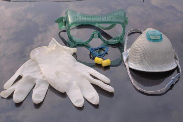 Набор для биологической защиты: маска, очки, перчатки