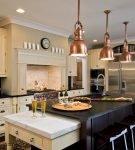 Необычные светильники в кухне