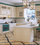 Лаконичное оформление кухни