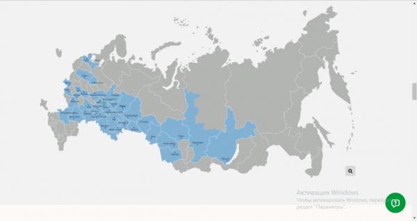 Зона покрытия «Дом.ru»