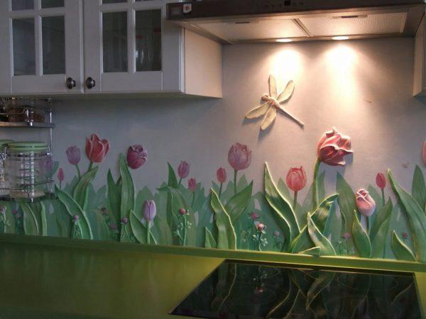 Фреска на кухонном фартуке