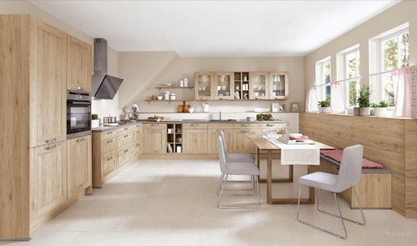 Кухня сканди в пастельных окрасах