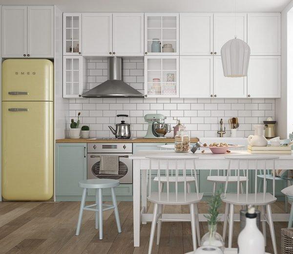 Кухня сканди с элементами ретро