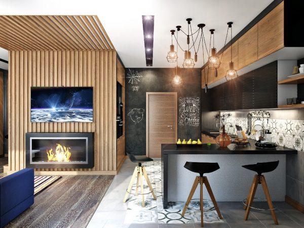 Признаки лофта в скандинавском дизайне