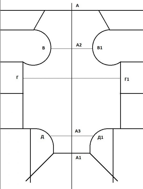 Схема выкройки попоны