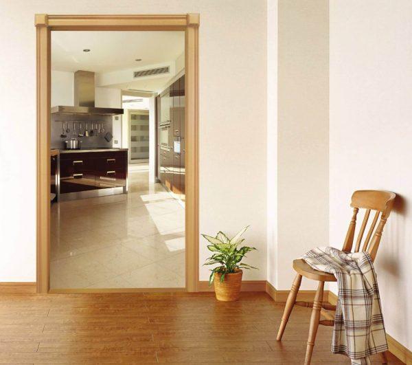 Прямоугольный дверной проём стандартных размеров