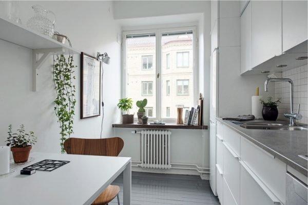 Кухня с вертикальным блоком