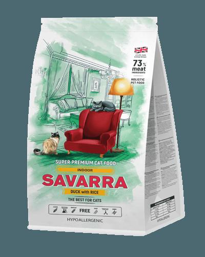 Сухой корм «Саварра» для кошек, живущих в помещении