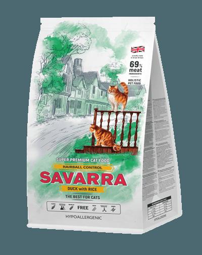 Сухой корм «Саварра» для вывода шерсти